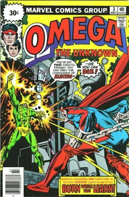 Omega #3 30c Variant Edition May, 1976. Starburst Flash