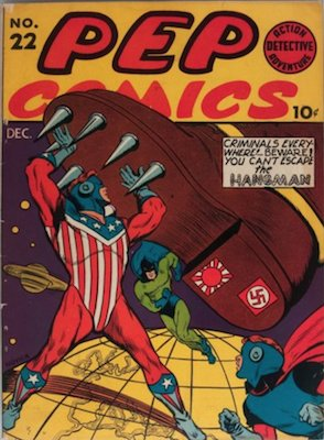 PEP Comics #22: First Appearance of Archie. Click for values