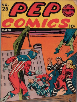 Pep Comics #25. Click for current values.