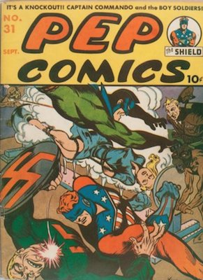 PEP Comics #31: First appearance of Mr. Lodge. Click for values