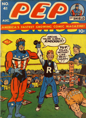 PEP Comics #41: Archie covers begin. Click for value
