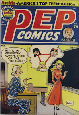 PEP Comics #78: First appearance of Dilton. Click for value