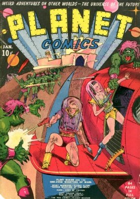 Planet Comics #1: Classic sci-fi series debut issue. Click for values