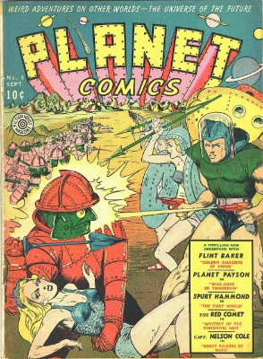 Planet Comics #8: Golden Amazons of Venus. Click for values