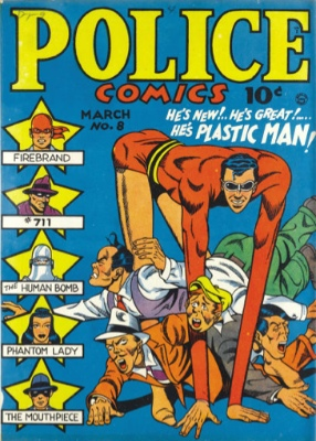 Police Comics #8: Origin and First Appearance, Manhunter (Dan Richards). Click for values