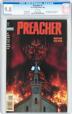 Preacher #1 is getting expensive in CGC 9.8, but that's what we recommend you invest in. It's too common to lower your standards. Click to buy a copy