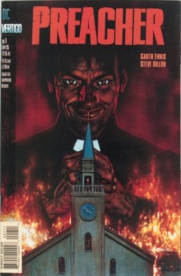 Preacher #1 (1995) 1st Jesse Custer, Tulip, Cassidy and Saint of Killers. Click for value