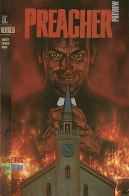 The rare true first appearance, Preacher Preview, is 20 times less common in the CGC census. Click to look for a copy (good luck!)