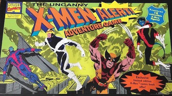 The Pressman X-Men board game contained a voucher to send off for a copy of Uncanny X-Men #297 gold variant comics