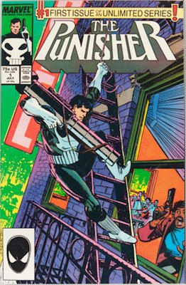 Punisher #1 (volume 2) (Marvel, 1987): First ongoing Punisher solo series. Click for values