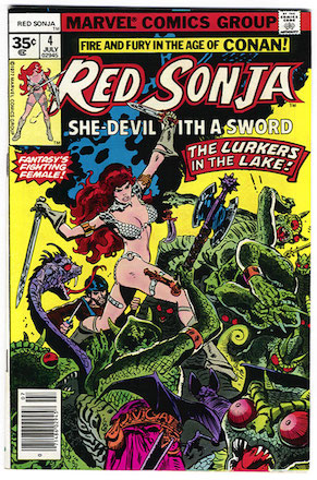 Red Sonja #4 35c Variant