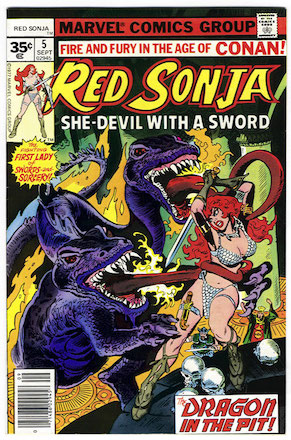 Red Sonja #5 35 Cent Variant Edition