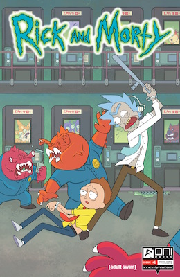 Rick and Morty #1 (2015) First print run sold out; based on TV series on Adult Swim channel. Click for value