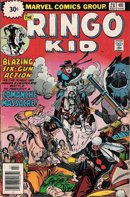 RARE! Ringo Kid #28 30 Cent Variant May, 1976. Price in Starburst