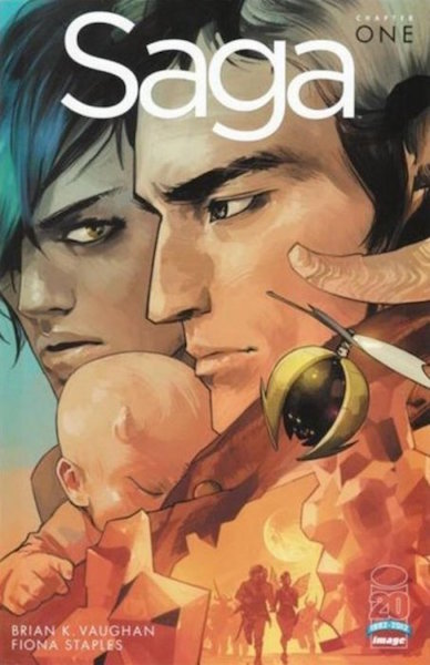 #12: Saga 1 DRS Third Printing /Retailer Incentive Edition, Staples (2012). Click for values