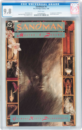 Stick to CGC 9.8 copies with white pages. Sandman #1 is too common to lower your standards. Click to buy yours