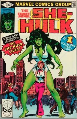 First Appearance, She-Hulk, Savage She-Hulk #1 , Marvel Comics, 1980. Click to see values