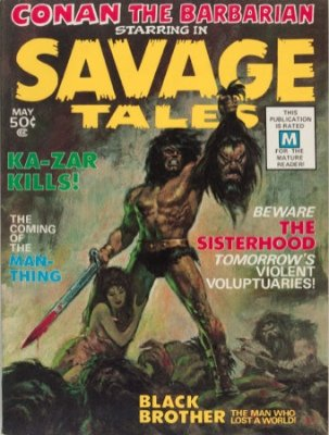 Origin and First Appearance, Man-Thing, Savage Tales #1, Marvel Comics, 1971. Click for value