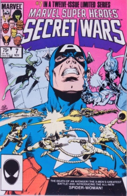 Origin and First Appearance, Julia Carpenter, Secret Wars #7, Marvel Comics, 1984. Click for value