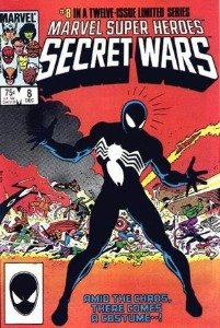 modern age comics: Marvel Super Heroes Secret Wars, first Spiderman black costume