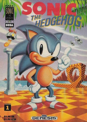 Sonic the Hedgehog #1 (1991): Rare, 1st Appearance Sega. Click for value