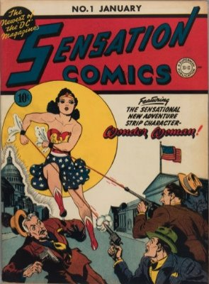 Sensation Comics #1: Origin and First Appearance, Mr. Terrific; Origin, Wonder Woman. Click for values