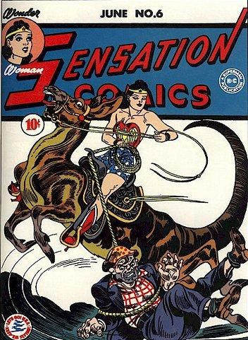 Sensation Comics #6: first appearance of Wonder Woman's Lasso of Truth