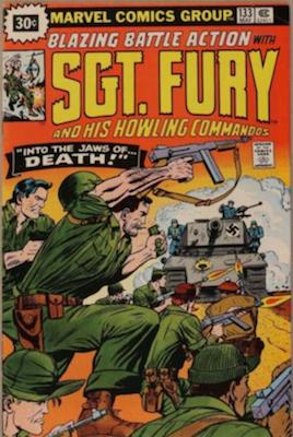 Sergeant Fury #133 30c Variant May, 1976. Starburst Flash