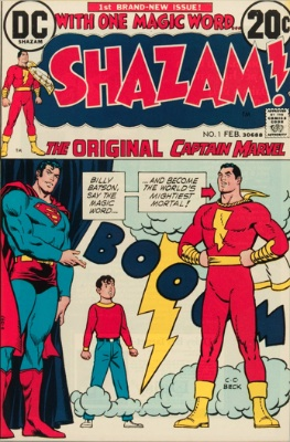 Shazam #1 1973: DC renames character due to conflict with Marvel's Captain Marvel name. Click for values