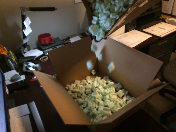 How to ship CGC comics: if you don't have packing peanuts, use bubblewrap or scrunched newspaper