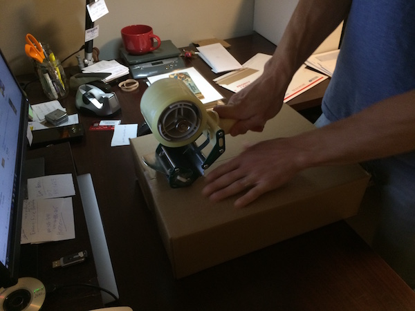 Tape the box holding the CGC comic book securely closed