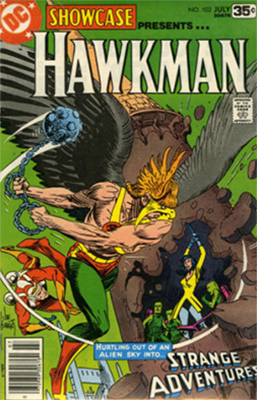 Showcase #102: Hawkman appearance. Click for values