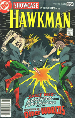 Showcase #103: Hawkman appearance. Click for values