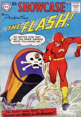 Showcase #13: 3rd appearance of Silver Age Flash. Click for values