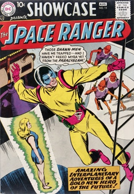 Showcase #15 (February 1958): First Appearance of Space Ranger (Rick Starr). Click for values