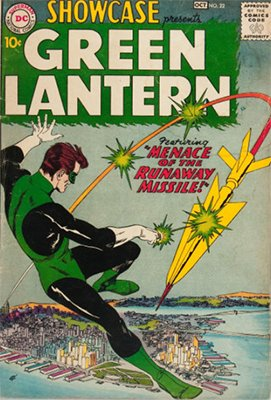Showcase #22 (October 1959): Origin and First Appearance, Silver Age Green Lantern. A valuable Silver Age comic book. Click for market prices