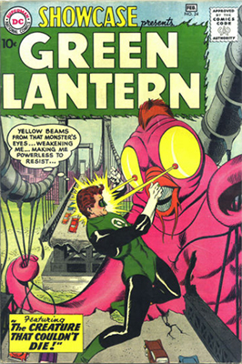 Showcase #24 (1959): Third Appearance of Silver Age Green Lantern (Hal Jordan). Click for values