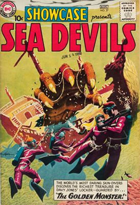 Showcase #27, first appearance of the Sea Devils. Click for values