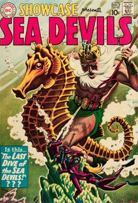 Showcase #29, third appearance of the Sea Devils. Click for values