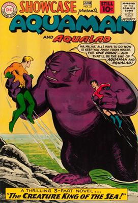 Showcase #32: Aquaman and Aqualad appearances. Click for values