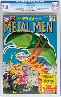 There is a big jump in prices when you get beyond CGC 5.0 with Showcase #37. Upper mid-grade books also look much nicer. Aim for 7.0 if you can afford one. Click to buy