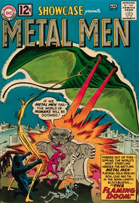 Hot Comics #91: Showcase #37, 1st Metal Men. Click to buy yours