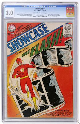 Showcase #4 gets expensive very quickly. Pick and choose your CGC 3.0 example with care. Aim for maximum eye appeal and it will be easier to resell. Click to buy
