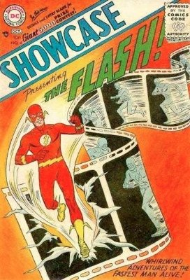 Showcase #4 (1956): First Appearance of Silver Age Flash (Barry Allen). Click for values