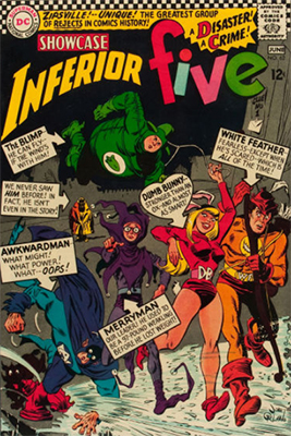 Showcase #62: Origin and first appearance of the Inferior Five. Click for values