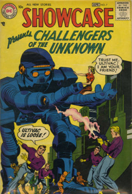 Showcase #7: Second appearance of Challengers of the Unknown. Click for values