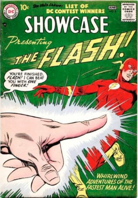 Showcase #8: second Appearance of the Silver Age Flash. Click for values