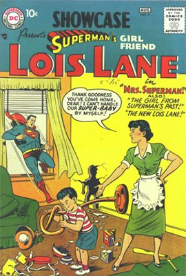 Showcase #9 (Aug 1957): Key Lois Lane and Superman Romance Story. Click for values
