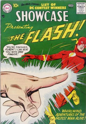 Showcase #8 (June 1957): Origin and First Appearance, Capt. Cold. In the top 50 Silver Age comics list. Click for values