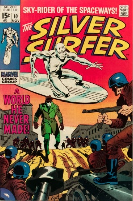 Silver Surfer #10 from the 1960s series. Click for value